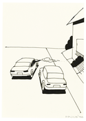 <I>Hollywood Drive-By</i> 1996 Ink on paper 7 1/2 x 5 1/2 inches; 19 x 14 cm