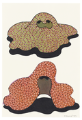 <I>Two Floating Sculptures</i> 1999 Acrylic and ink on paper  8 1/4 x 5 3/4 inches; 21 x 15 cm
