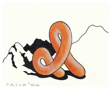 <I>Sculpture in Landscape</i> 2006 Acrylic, ink, and colored pencil on paper 4 1/8 x 5 1/4 inches; 11 x 13 cm