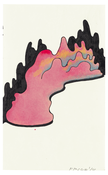 <I>Pink Form with Shadows</i> 2010 Acrylic, ink, and graphite on paper  9 x 5 1/2 inches; 23 x 14 cm