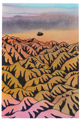 <I>Wilderness Sighting</i>  2002 Acrylic and ink on paper  8 1/2 x 5 3/4 inches; 22 x 15 cm
