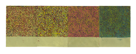 <I>Early Seasons</i> 2010-2011 Kremer ink on Rives BFK paper, four sheets Each: 17 1/2 x 13 inches; 45 x 33 cm Overall: 17 1/2 x 52 1/4 inches; 45 x 133 cm