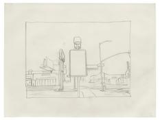 <I>Untitled (6)</i> 1996 Graphite on vellum  9 x 12 inches; 23 x 30 cm