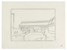 <I>Untitled (47)</i> 1996 Graphite on vellum  9 x 12 inches; 23 x 30 cm