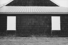 <I>Barn, Bridgehampton</i> 1968 Gelatin silver print 8 1/2 x 13 inches; 22 x 33 cm