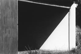<I>Hangar Doorway, St. Barthélemy</i> 1977 Gelatin silver print 8 1/2 x 12 3/4 inches; 22 x 32 cm