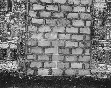 <I>Stonework, Meschers</i> 1950 Gelatin silver print 9 7/8 x 12 1/2 inches; 25 x 32 cm