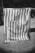 <I>Beach Cabana, Meschers</i> 1950 Gelatin silver print 12 3/4 x 8 1/2 inches; 32 x 22 cm