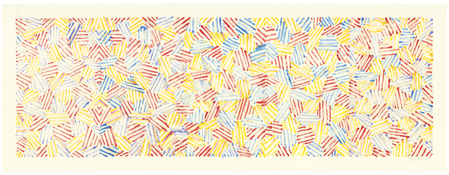 <I>Untitled</i> 1983 Monotype printed from four lexan plates on Arches 88 paper  36 3/8 x 96 1/4 inches; 92 x 245 cm