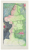 <I>Untitled</i> 1996 Monotype in Aquarelle crayon on Lavis Fidelis  (Arches en tout cas) paper 41 x 23 inches; 104 x 58 cm
