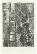 <I>Untitled</i>  2012 Collograph monotype on Shikoku Surface Gampi paper  38 1/2 x 25 1/8 inches; 98 x 64 cm