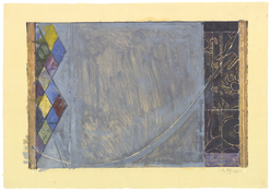<i>Catenary</i> 2001 Monotype on Japanese paper  28 1/8 x 39 7/8 inches; 71 x 101 cm