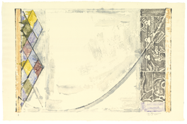 <I>Catenary</i>  2001 Monotype on Japanese paper  25 3/8 x 35 5/8 inches; 65 x 91 cm