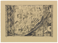 <I>Catenary</i>  2001 Monotype on Rives BFK paper  29 1/8 x 39 3/8 inches; 74 x 100 cm