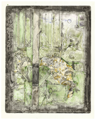 <I>Untitled</i>  2015 Monotype on paper 39 1/2 x 31 5/8 inches; 100 x 80 cm