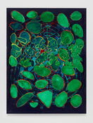 <I>Verdigris</i> 2014 Oil, wax and resin on linen  80 x 60 inches; 203 x 152 cm