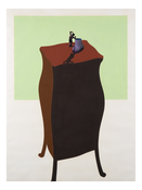 <I>The French Figurine Cup</i> 1971 Acrylic, graphite, and ink on paper  40 x 30 inches; 102 x 76 cm