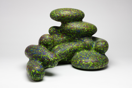 <I>Darla</i> 2009 Fired and painted clay 12 1/2 x 21 x 14 1/2 inches; 32 x 53 x 37 cm