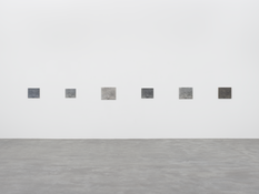 <I>A Painting in Six Parts</i> 1986-87/2012-16 Oil on canvas, six parts Overall dimensions: 15 1/8 x 254 inches 38 x 645 cm