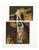 <I>Untitled (Dali/Buddha)</i> c. 1977-80 Ink and collage on board  20 1/2 x 15 inches; 52 x 38 cm