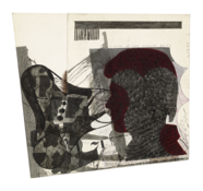<I>Untitled (David Bowie)</i>  1979-94 Ink and collage on board  8 1/2 x 9 1/8 inches; 22 x 23 cm