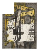 <I>Untitled (Crucified Nancy)</i> c. 1977-80 Ink and collage on board  20 x 15 inches; 51 x 38 cm