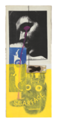 <I>Untitled (Elvis with Scarface Bunny)</i> 1993 Ink and collage on board  21 x 8 1/2 inches; 53 x 22 cm
