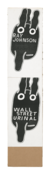 <I>Untitled (Ray Johnson and Wall Street Urinal Bunnies)</i> 1994 Collage on board  32 x 7 inches; 81 x 18 cm