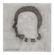 <I>Craig Claiborne Lou Reed</i>  1977 Acrylic and ink on panel 15 7/8 x 15 7/8 x 3/4 inches; 40 x 40 x 2 cm