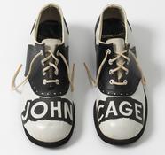 <I>A Shoe (John Cage Shoes)</i> 1977 Mixed media 4 x 9 x 11 inches; 10 x 23 x 28 cm