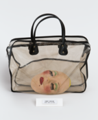 <I>Candy Darling Cast</i>  1970 Plaster, paint, and eyelashes in plastic carrying case with artist's label Bag: 17 1/2 x 16 x 3 inches; 45 x 41 x 8 cm  Cast: 3 x 8 x 5 inches; 8 x 20 x 13 cm