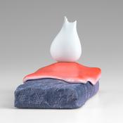 <I>Oeuvre Removal</i> 2016 Ceramic, porcelain, glaze, catalyzed polyurethane, and epoxy resin  4 1/8 x 3 1/2 x 5 inches; 10 x 9 x 13 cm