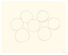 <I>Seven Oranges</i> 1966 Graphite on paper 22 5/8 x 28 1/2 inches; 58 x 72 cm