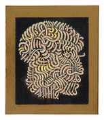 Jordan Belson <I>Profile</i> c. 1950 Lacquer and pastel on paper in artist's frame  7 x 6 1/8 inches; 18 x 16 cm