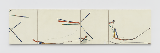 <i>60-T-43</i> 1960 Oil on canvas, four parts 32 x 130 inches; 81 x 330 cm