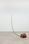 Martin Puryear  <I>The Way</i> 2017 Pine, maple sapling, curly maple, willow shoot  102 1/2 x 24 x 96 inches; 260 x 61 x 244 cm