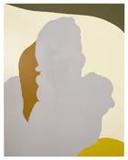<I>Mum on the Couch</i> 2017 Enamel paint on aluminum 56 1/4 x 44 inches; 142 x 112 cm