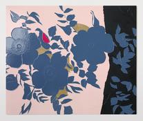 <I>Grandma Looks at the Garden</i> 2017 Enamel paint on aluminum 40 1/8 x 48 inches; 102 x 122 cm