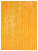 <I>Rain</i> 2017 Enamel paint on paper mounted in artist's frame 74 5/8 x 55 3/8 inches; 190 x 141 cm
