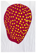<I>Ripe</i> 2015 Enamel paint on paper mounted in artist's frame 79 1/8 x 54 3/4 inches; 201 x 139 cm