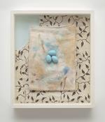 <i>Eggs/Diaper/Dress</i> 1988-2017 Epoxy putty with acrylic, alkyd on cotton 14 x 12 x 2 3/8 inches; 36 x 31 x 6 cm