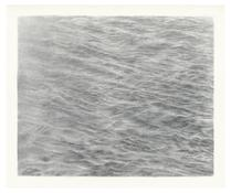 <i>Untitled (Ocean)</i> 2014 Charcoal on acrylic ground on paper 15 1/4 x 18 1/2 inches; 39 x 47 cm