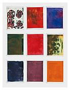 <i>Notes for Color Coding (Set 1)</i> 2005 Set of nine monoprints 22 x 17 inches; 56 x 43 cm