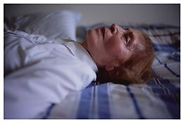 <i>My mother laying on her bed, Salem, MA</i> 2005 Cibachrome 30 x 40 inches; 76 x 102 cm