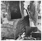 <i>Ruined Couch, Newark</i> 1985 Gelatin-silver print 14 5/8 x 14 5/8 inches; 37 x 37 cm