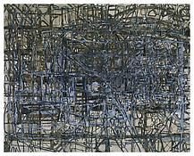 <i>Gray-scale Image</i> 1998 Oil on linen 96 x 120 inches; 244 x 305 cm