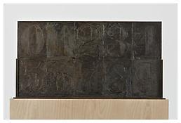 <i>0 - 9</i>, recto, 2008, Bronze, 19 3/4 x 37 5/8 x 1 1/4 inches; 50 x 96 x 3 cm