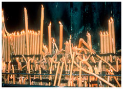 <i>Fatima candles, Portugal</i> 1998 Cibachrome 30 x 40 inches; 76 x 102 cm