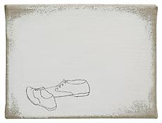 <i>3. Januar 2007</i> 2007 Gesso, collage and graphite on linen 6 x 8 inches 15 x 20 cm