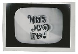 <i>What's My Line</i> c. 1965 Vintage silver print 4 3/4 x 7 inches; 12 x 18 cm